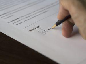 Overdracht bij de notaris