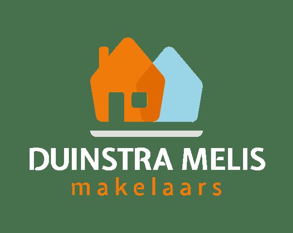 logo duinstra melis makelaars wit
