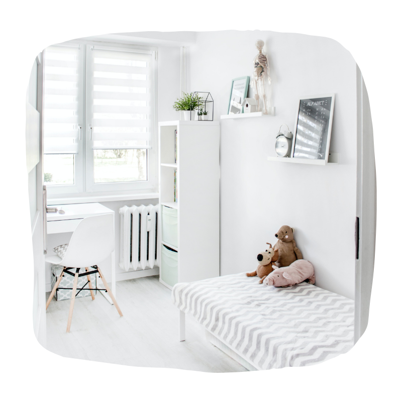 Scandinavische babykamer