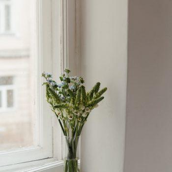 Fleur je vensterbank op